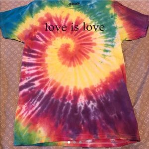 Tie dye Love Is Love shirt from Hot Topic